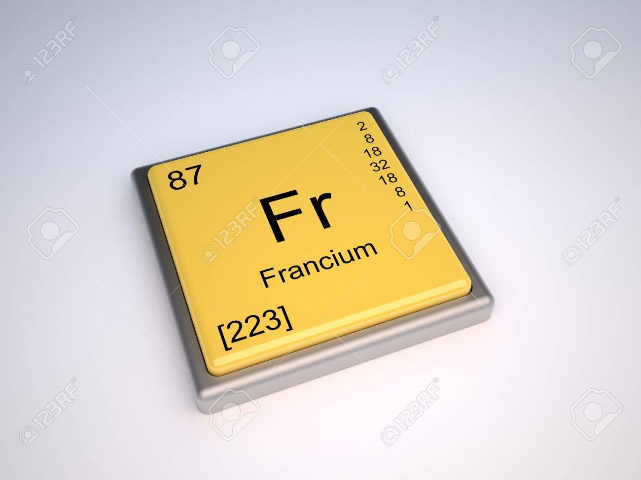 Francio elemento qumico de la tabla peridica con el smbolo p foto de archivo francio elemento qumico de la tabla peridica con el smbolo p urtaz Images
