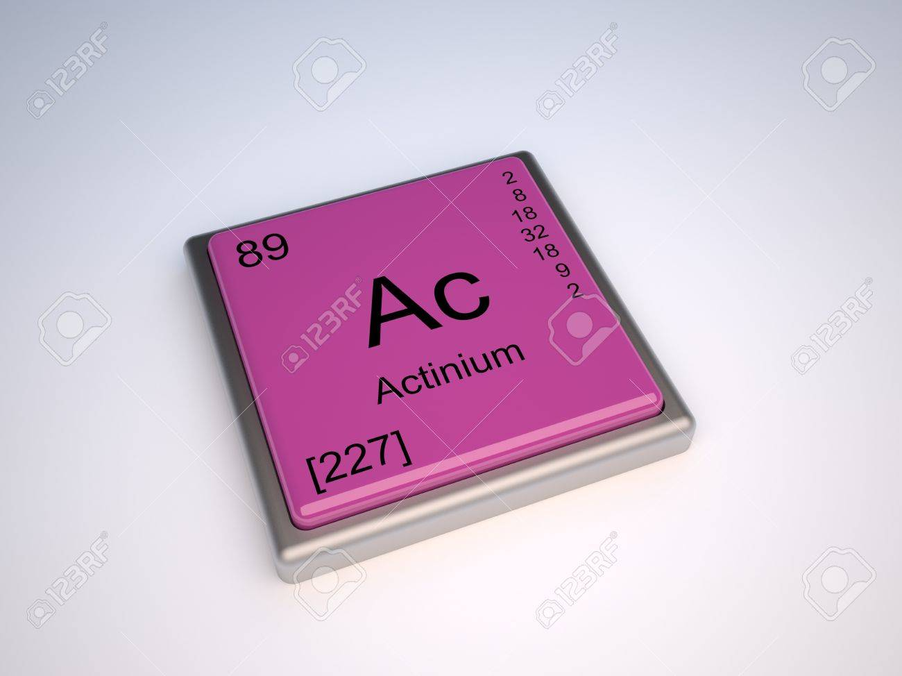 Actinium Chemical Element Of The Periodic Table With Symbol Ac Stock ...