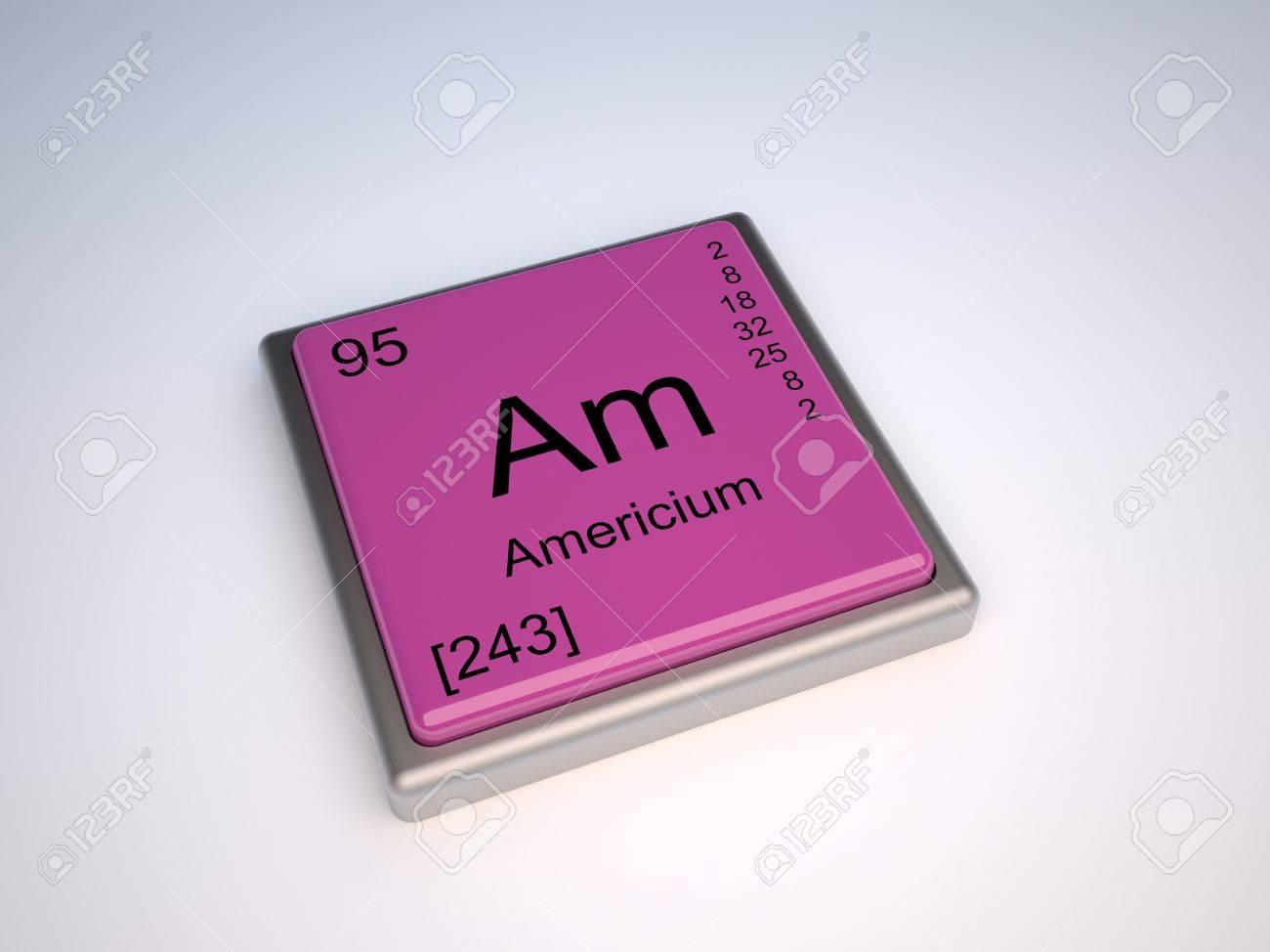 アメリシウム化学元素記号の周期表のよ の写真素材・画像素材 Image ...