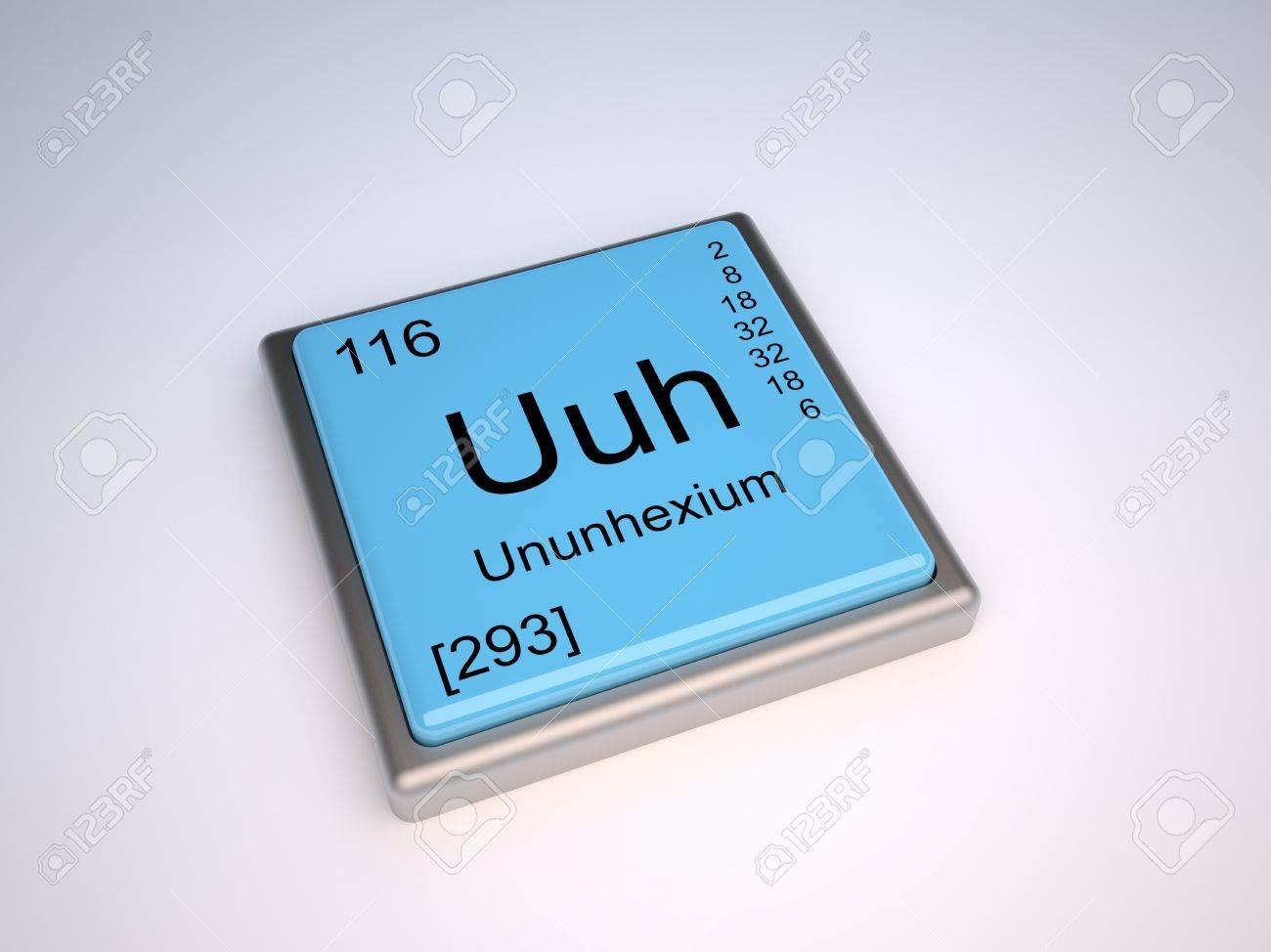 Ununhexio elemento qumico de la tabla peridica con el smbolo uuh foto de archivo ununhexio elemento qumico de la tabla peridica con el smbolo uuh urtaz Image collections