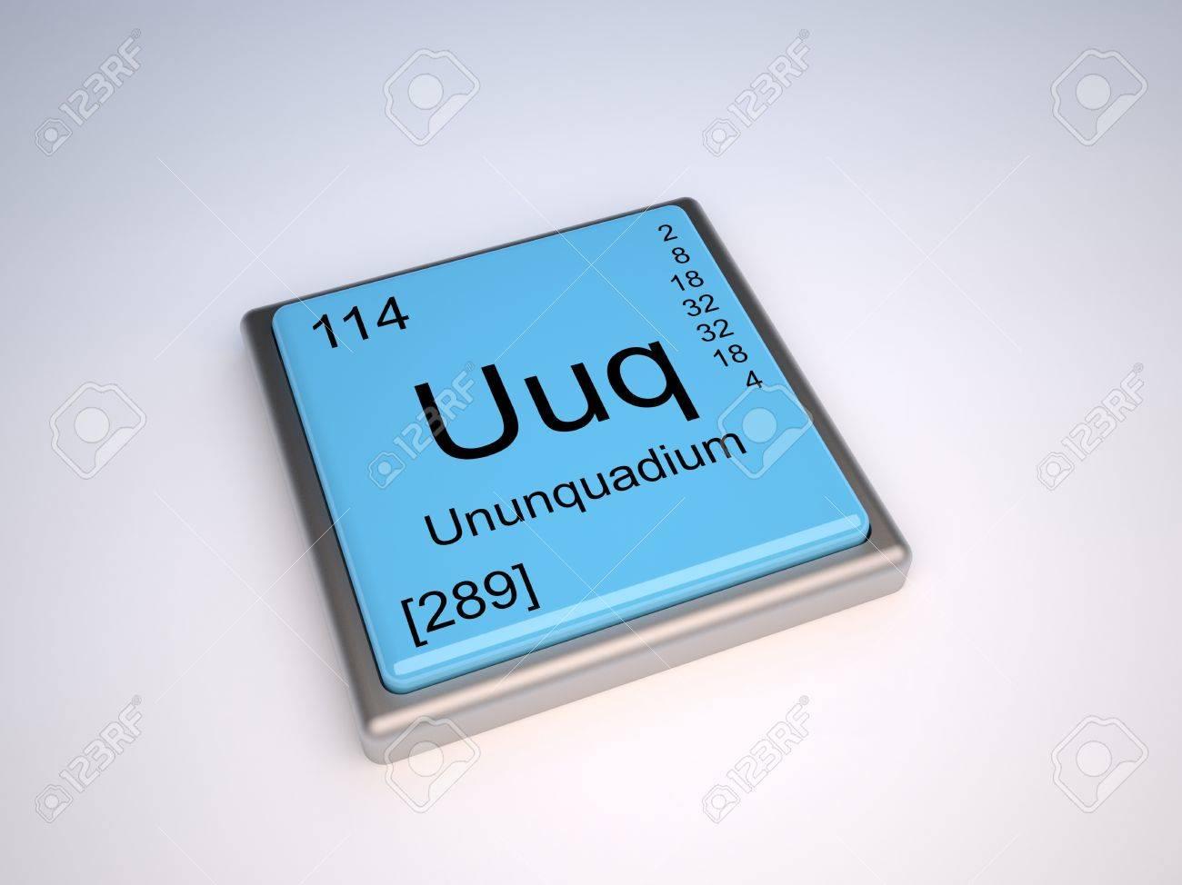 stock photo ununquadium chemical element of the periodic table with symbol uuq - Periodic Table Symbol Ununquadium