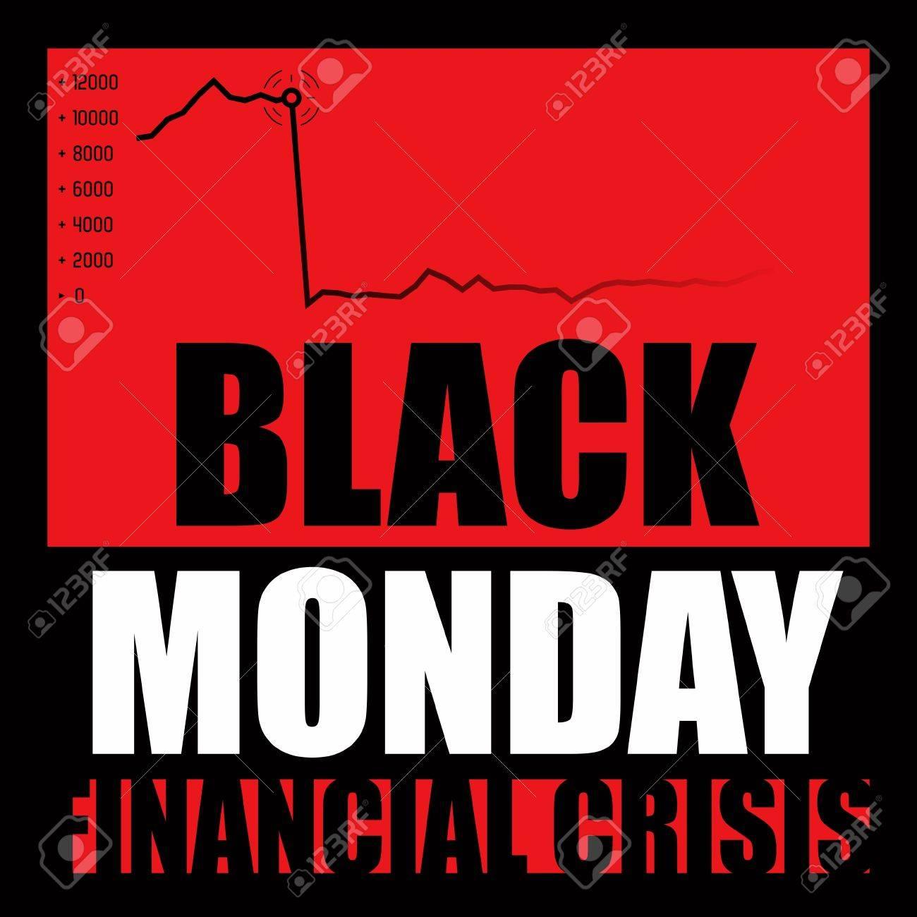 Black Monday - Financial Crisis Stock Photo - 10230063