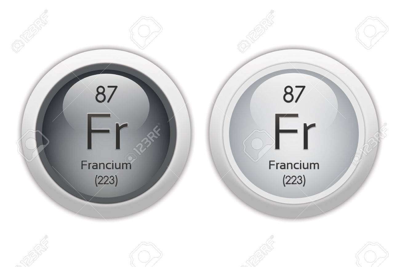Francium - two glossy web buttons Stock Photo - 10469926