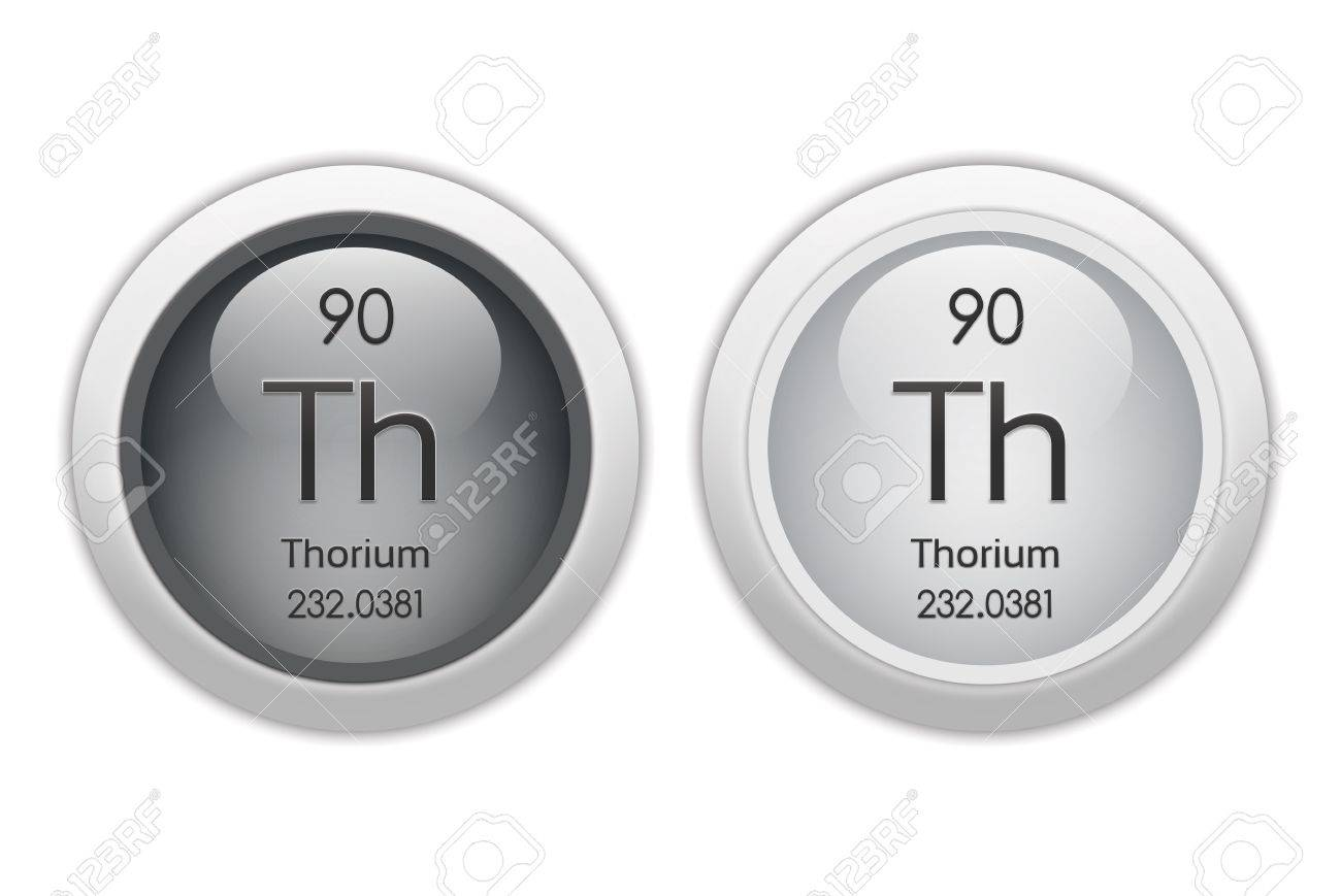Thorium - two glossy web buttons Stock Photo - 10469937
