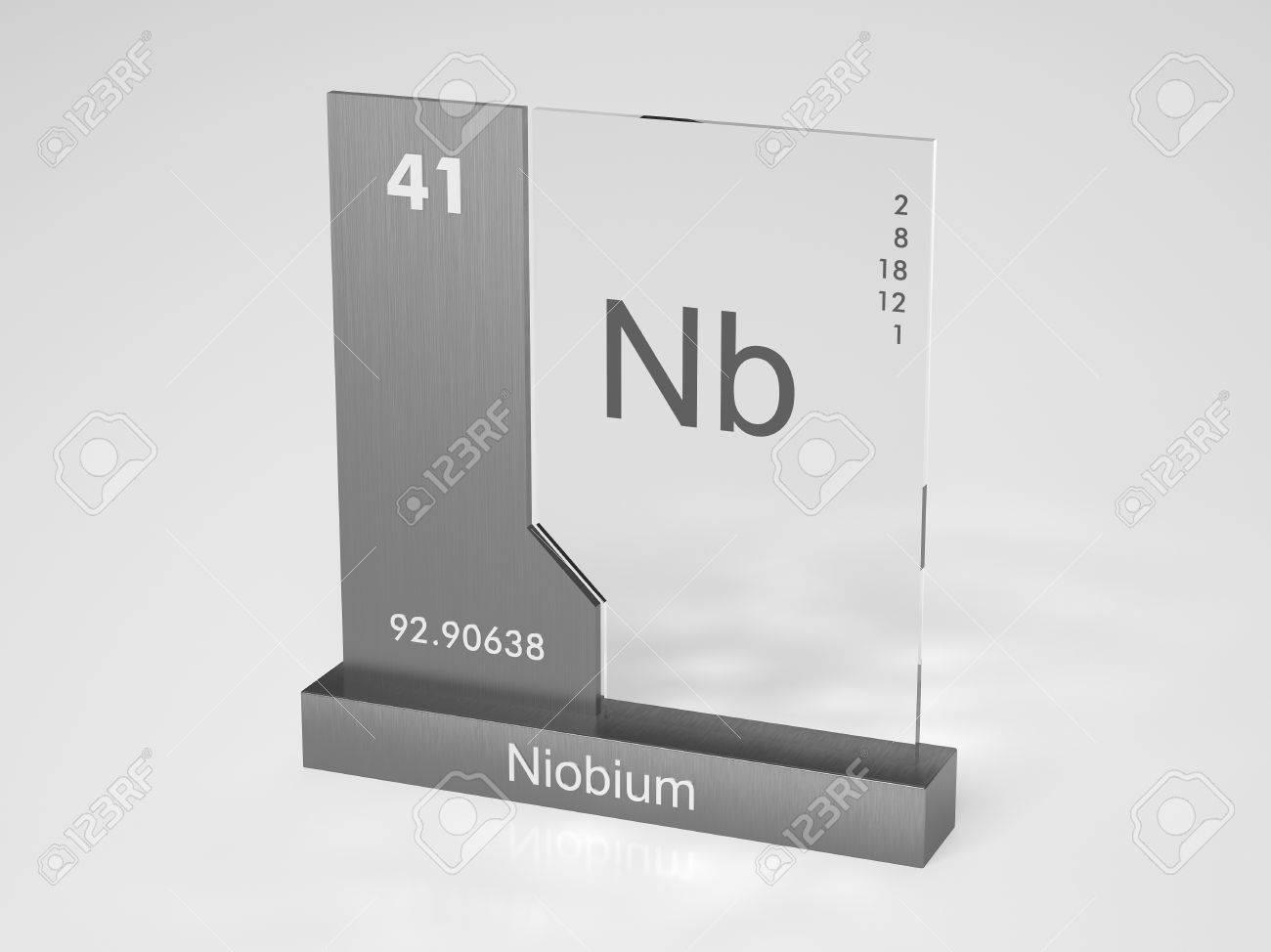 El niobio smbolo nb elemento qumico de la tabla peridica el niobio smbolo nb elemento qumico de la tabla peridica foto de archivo urtaz Image collections