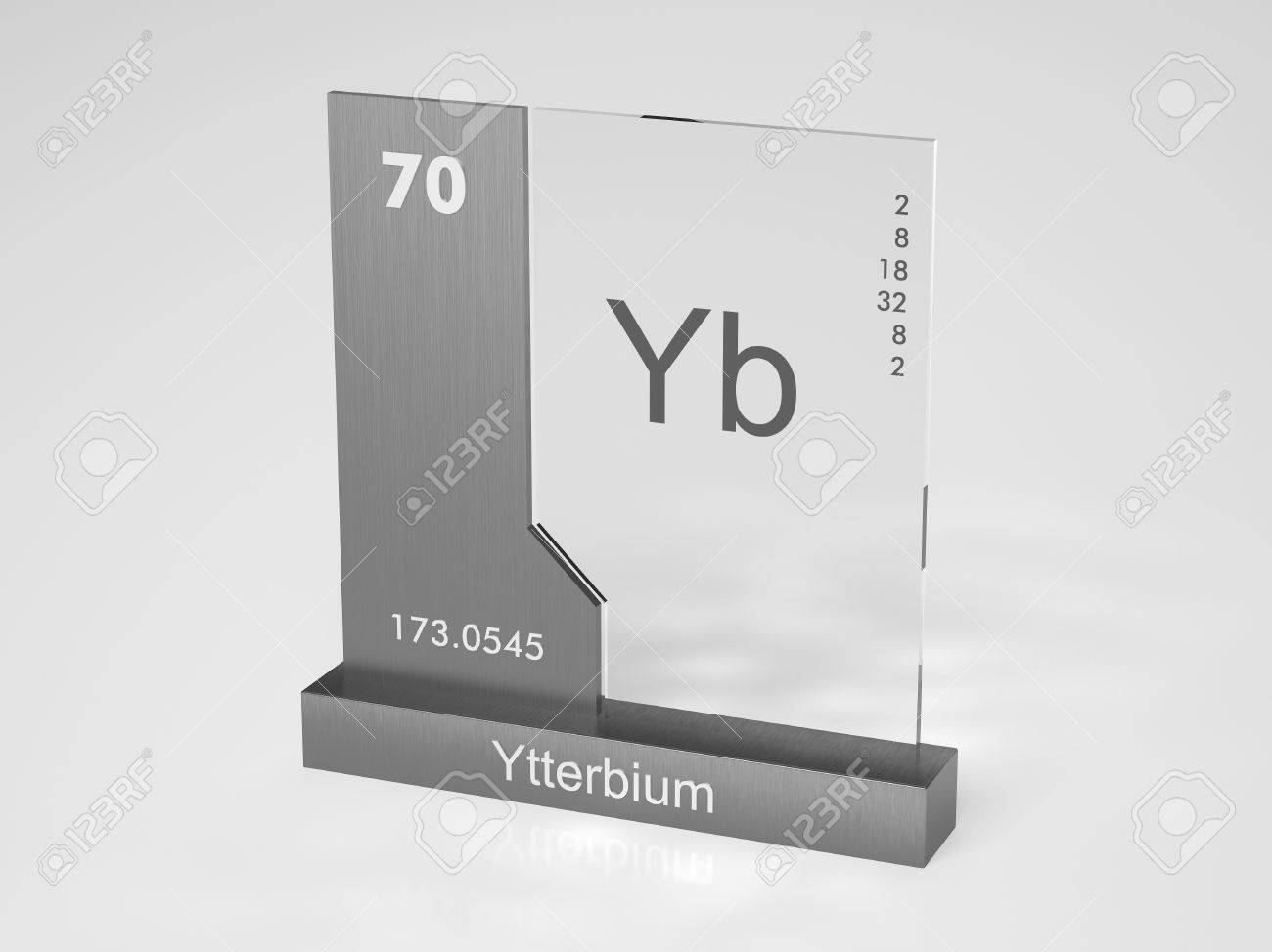Ytterbium Symbol Yb Chemical Element Of The Periodic Table Stock