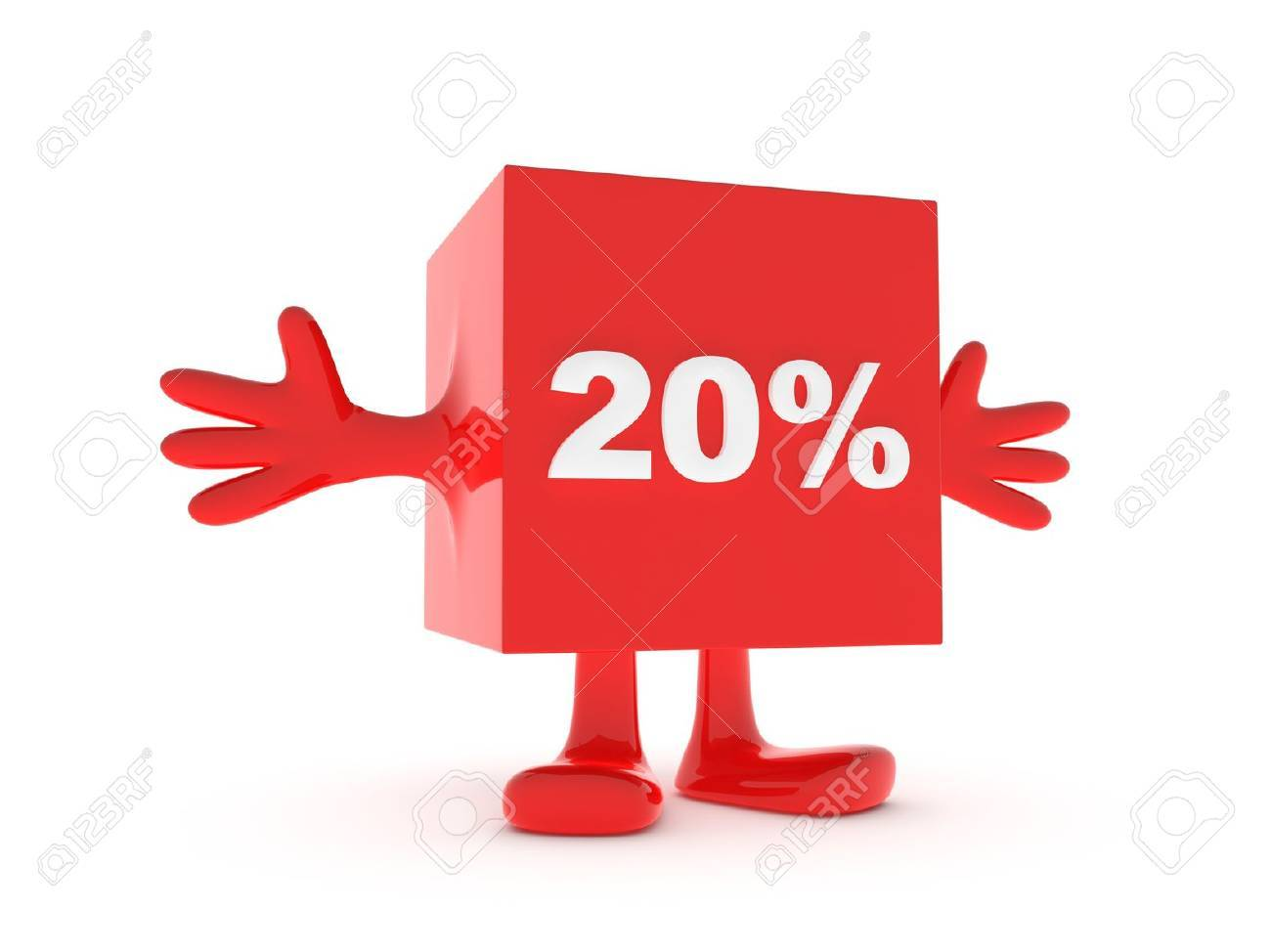 20 Percent discount happy figure Stock Photo - 11503354