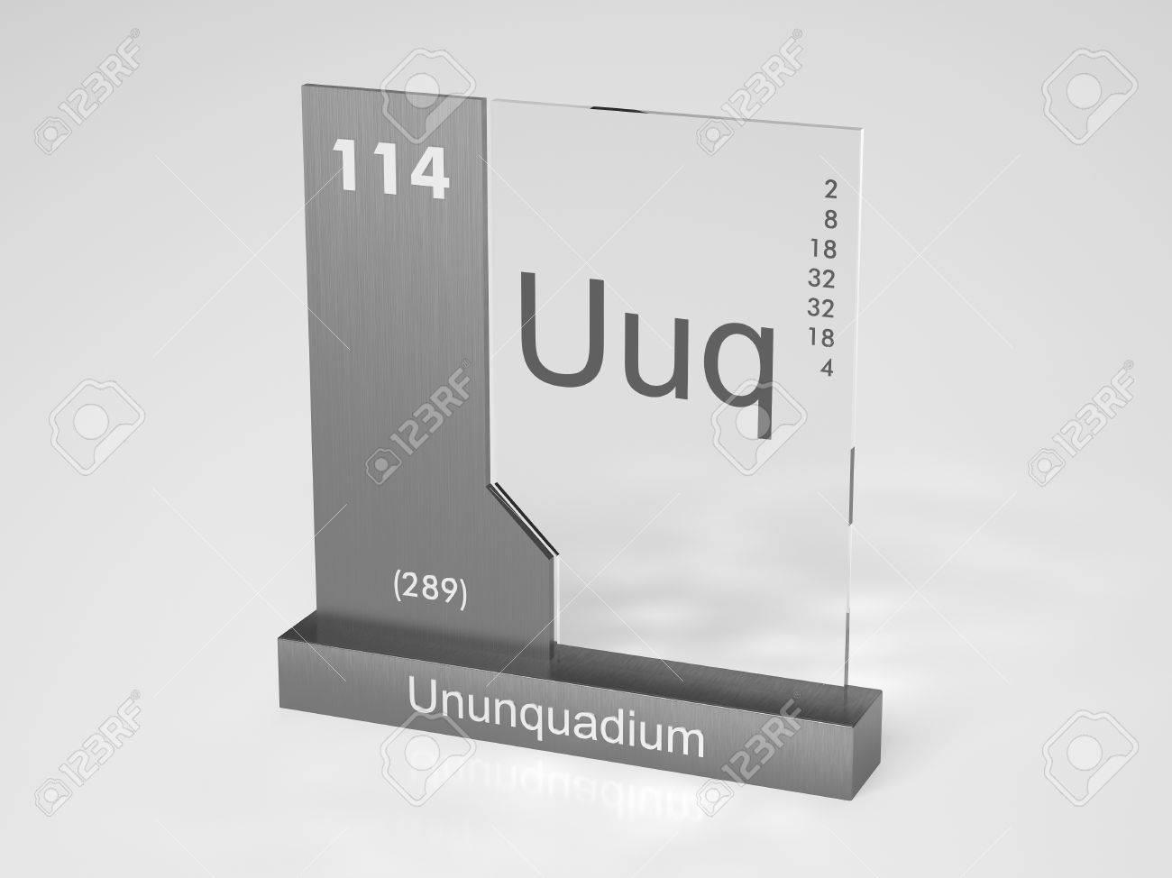 stock photo ununquadium symbol uuq chemical element of the periodic table - Periodic Table Symbol Ununquadium