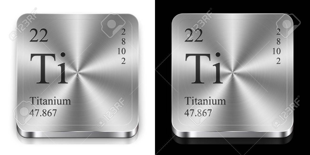 Titanium element of the periodic table two metal web buttons stock photo titanium element of the periodic table two metal web buttons urtaz Choice Image