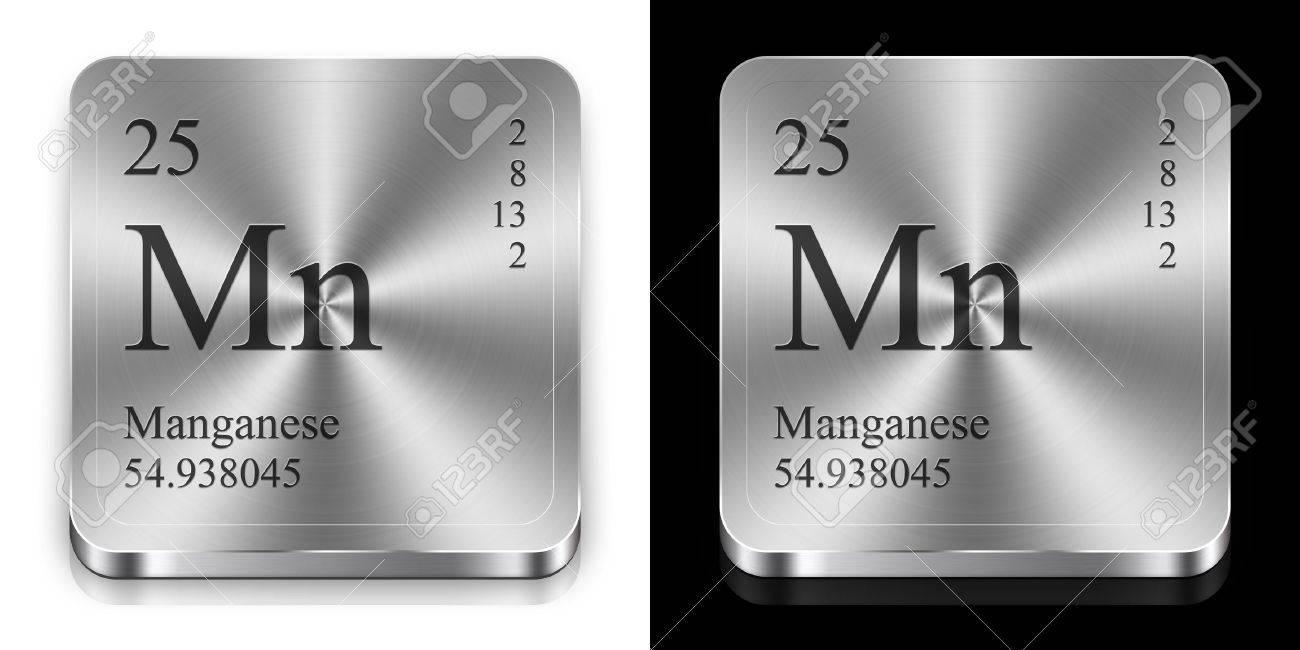 Manganeso elemento de la tabla peridica dos botones de la tela manganeso elemento de la tabla peridica dos botones de la tela de metal foto urtaz Images