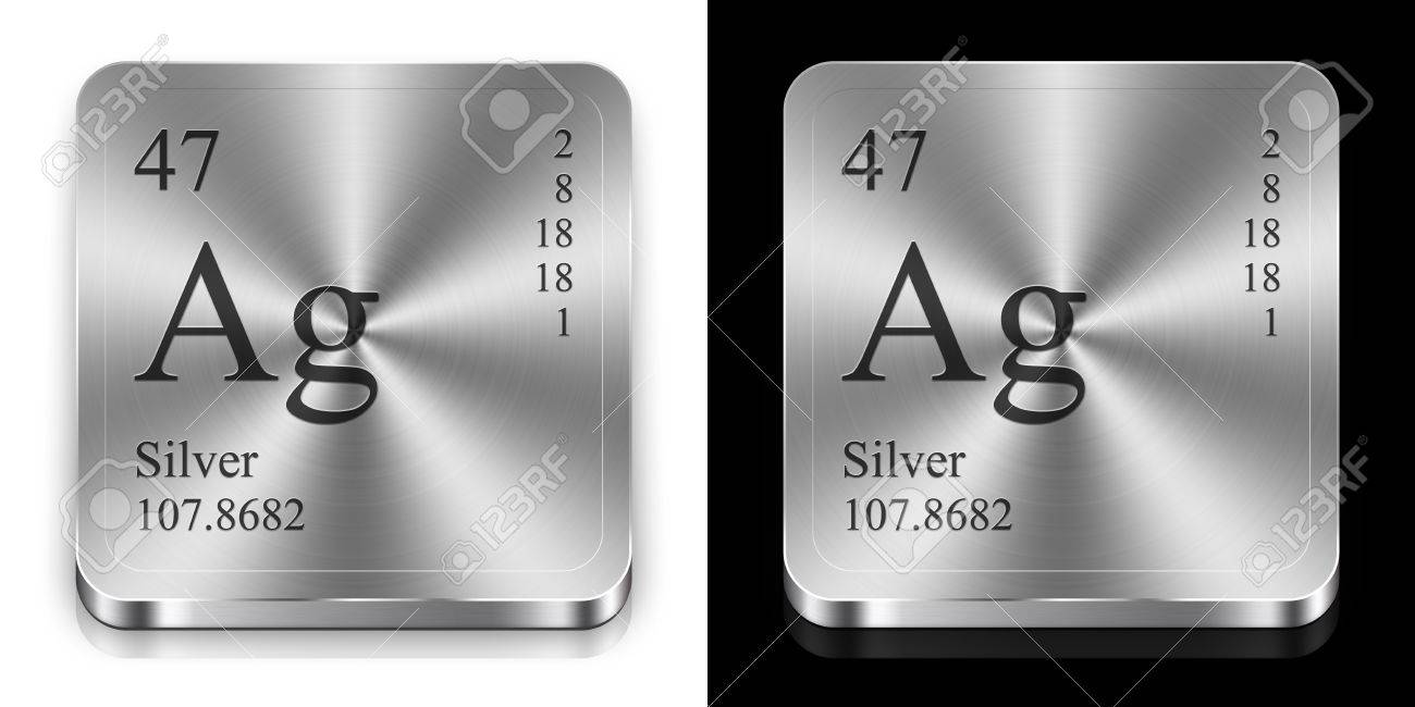 Silver element of the periodic table two steel web buttons stock silver element of the periodic table two steel web buttons stock photo 12082912 urtaz Choice Image
