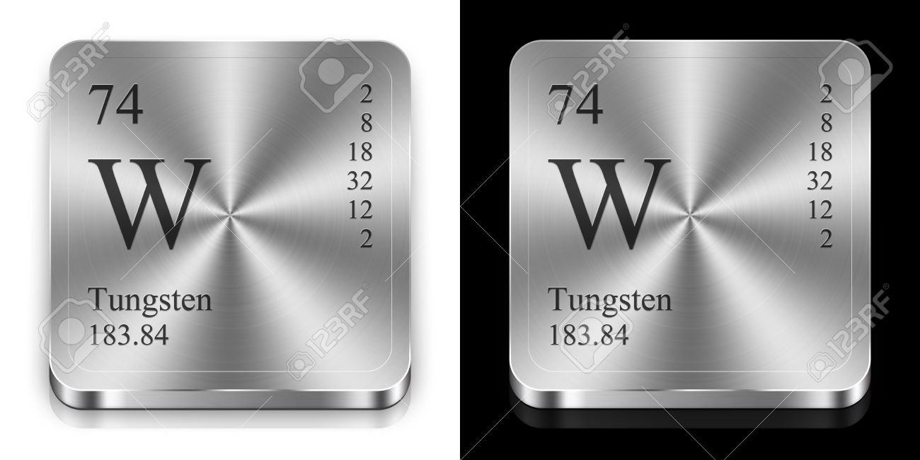 Tungsten element of the periodic table two steel web buttons stock photo tungsten element of the periodic table two steel web buttons urtaz Image collections
