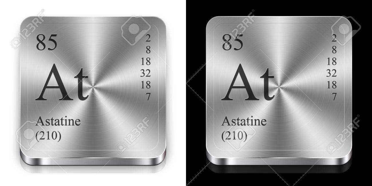 Astatine element of the periodic table two steel web buttons astatine element of the periodic table two steel web buttons stock photo 12079189 gamestrikefo Image collections