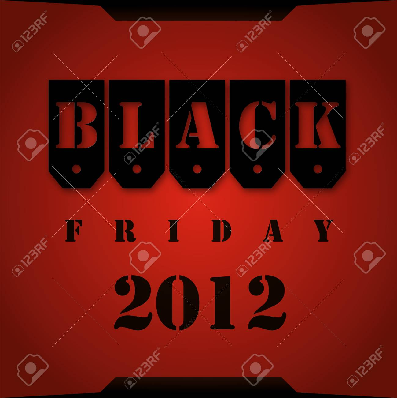 Black Friday 2012 red background Stock Photo - 16209517