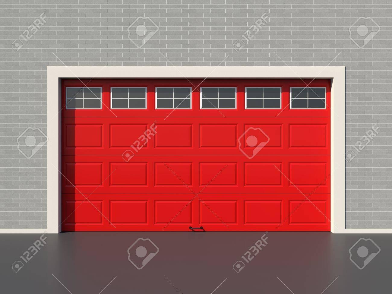 Garage Bilder modern garage door with five white windows royalty fria