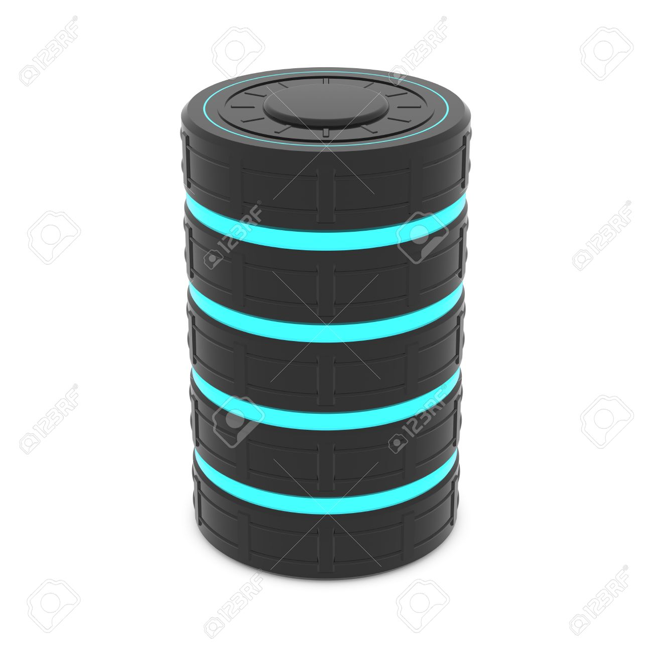 Database server data center disk drive symbol or futuristic database server data center disk drive symbol or futuristic battery fuel cell stock biocorpaavc Images
