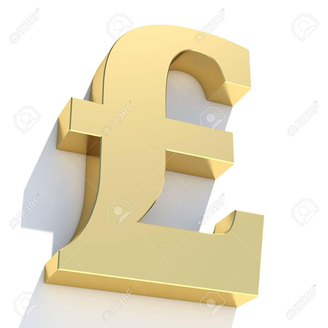 Gold uk pound symbol on white background stock photo picture and gold uk pound symbol on white background stock photo 18979657 buycottarizona