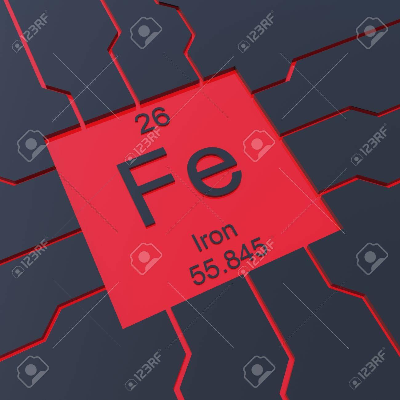 foto de archivo smbolo del hierro elemento de la tabla peridica - Tabla Periodica De Los Elementos Hierro