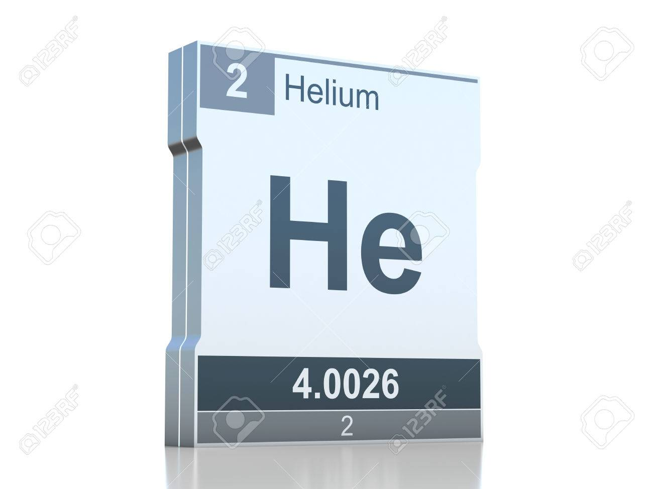 Helium Symbol Element From The Periodic Table Stock Photo Picture
