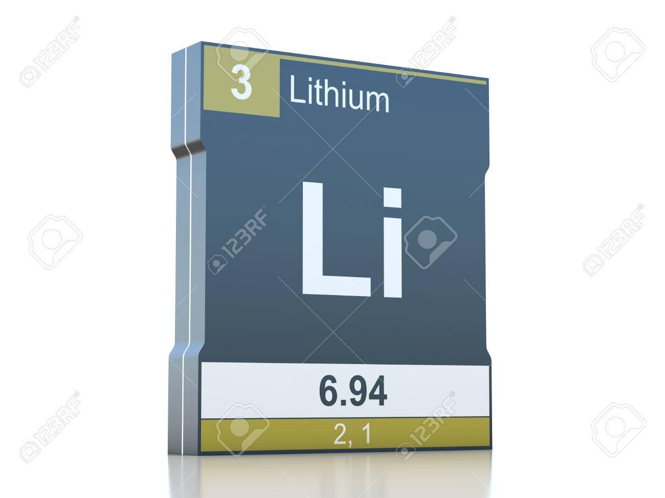 foto de archivo smbolo de litio elemento de la tabla peridica - Tabla Periodica Litio