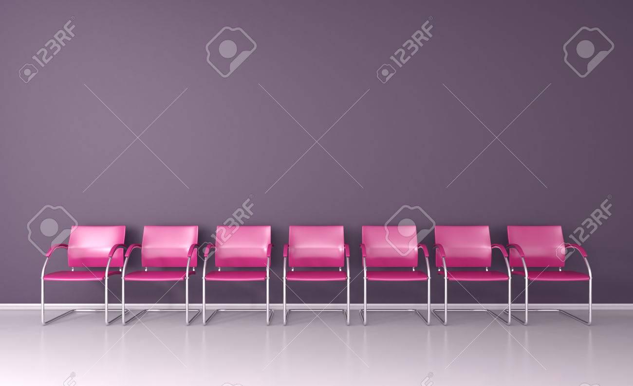 Rosa Stühle Im Wartezimmer Auf 3d Lizenzfreie Fotos Bilder Und