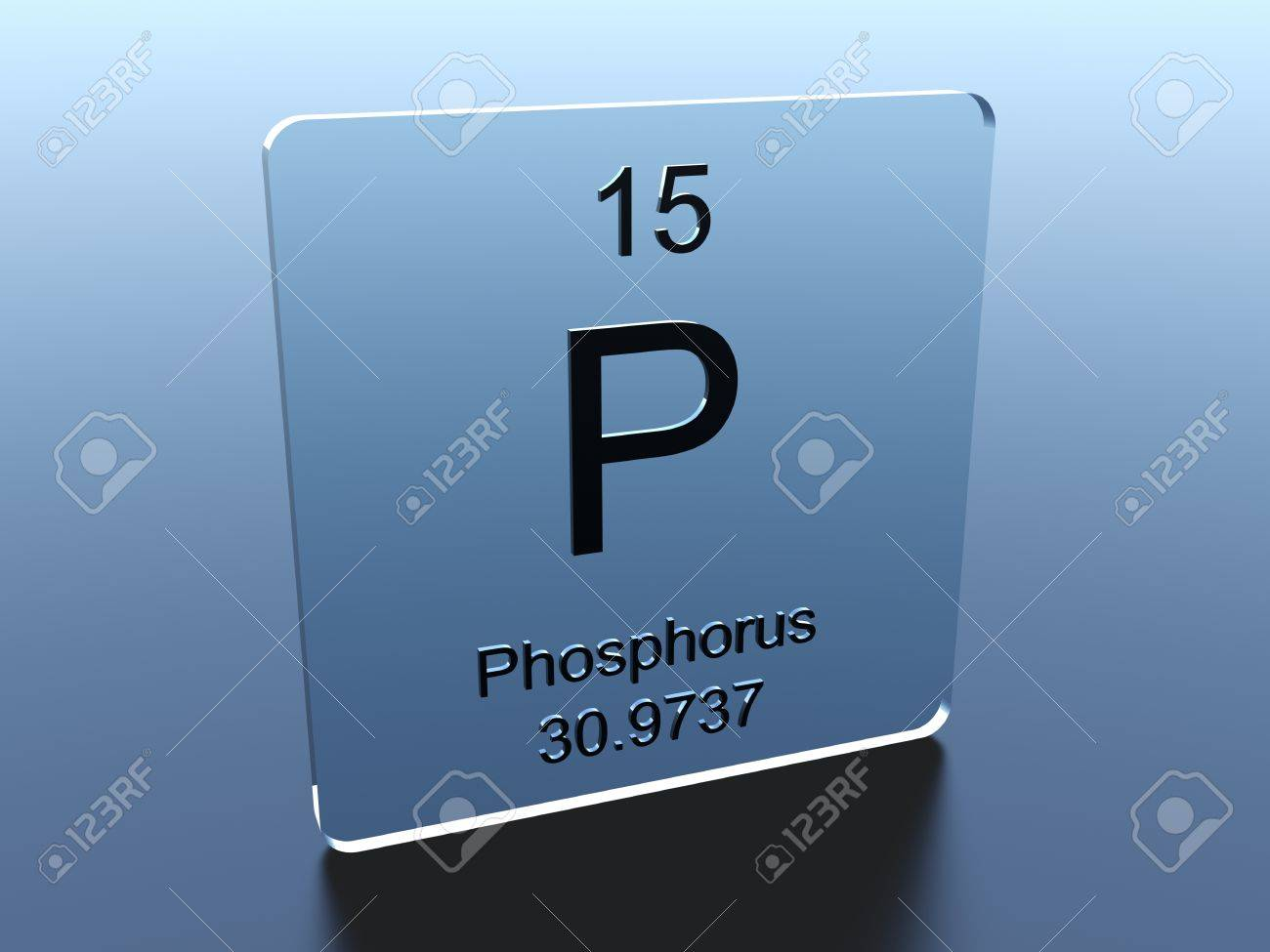 Phosphorus Symbol On A Glass Square Stock Photo Picture And Royalty