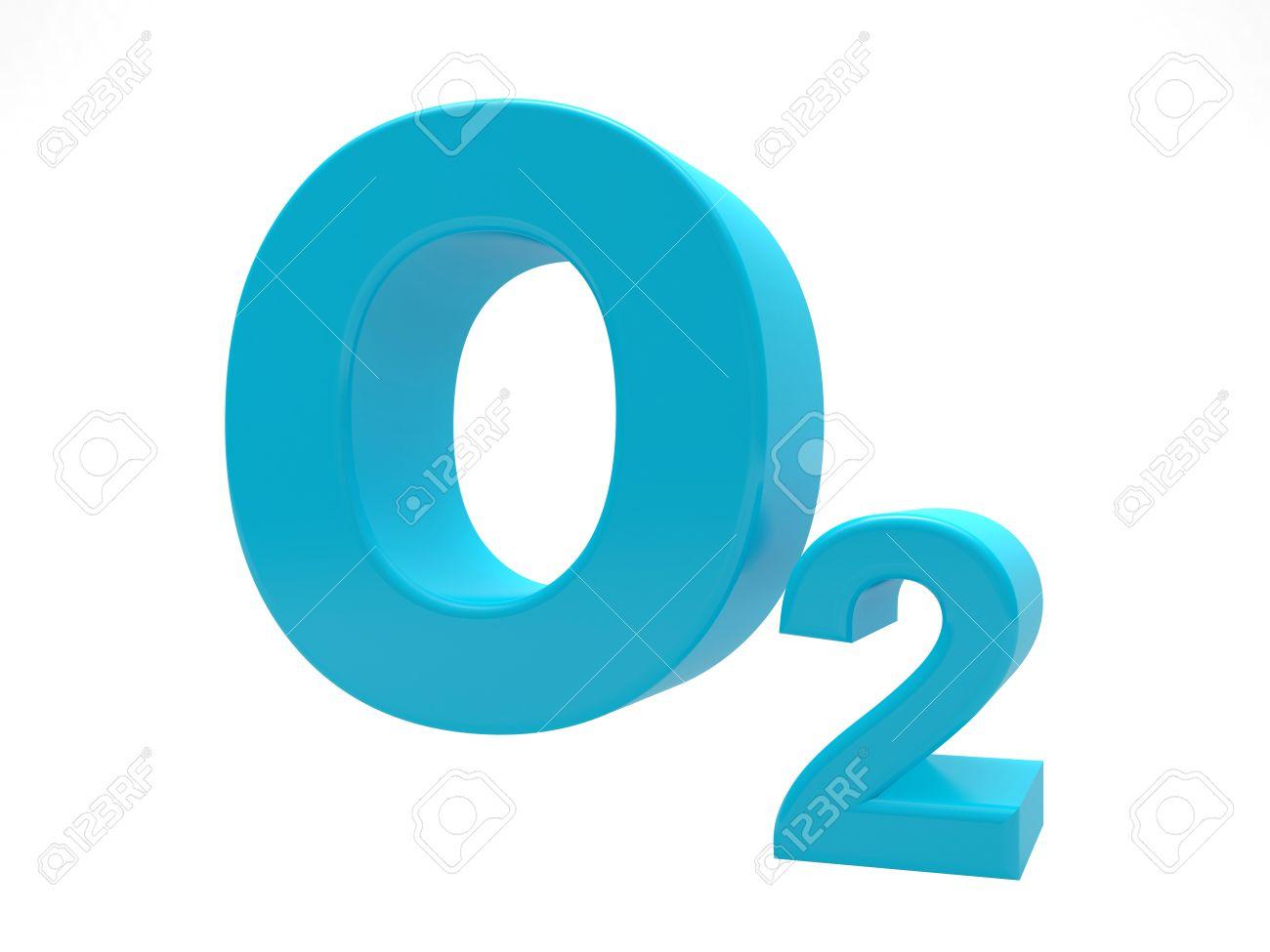O2 は-白で隔離青酸素分子記号 ...