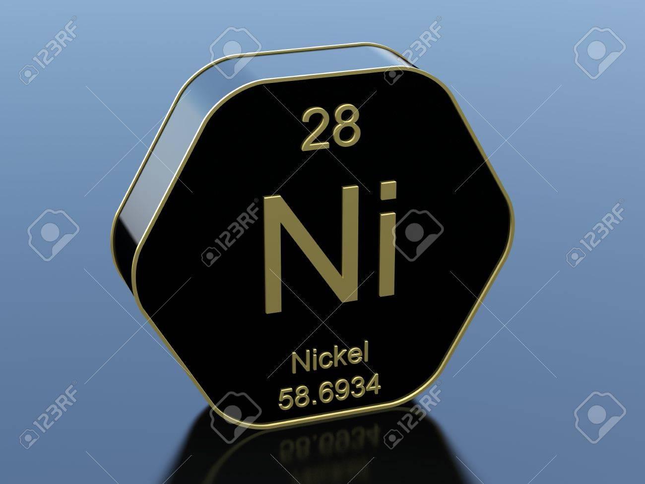 Nickel element symbol on hexagonal black icon stock photo picture nickel element symbol on hexagonal black icon stock photo 65586841 buycottarizona Images