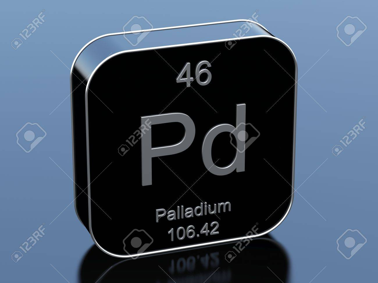 Palladium From Periodic Table Stock Photo Picture And Royalty Free