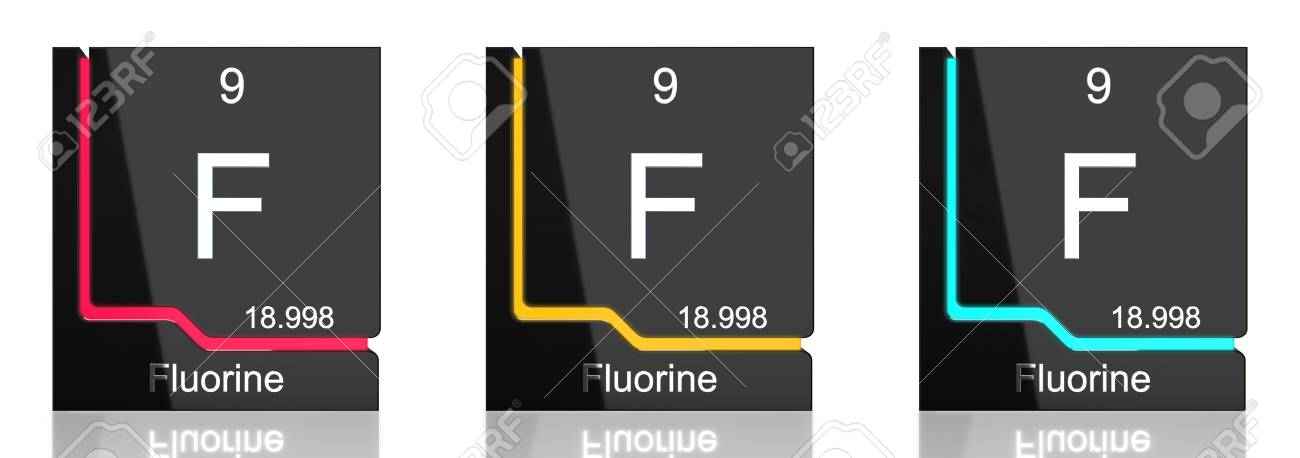 Fluorine element symbol from the periodic table in three colors fluorine element symbol from the periodic table in three colors stock photo 82735655 urtaz Gallery