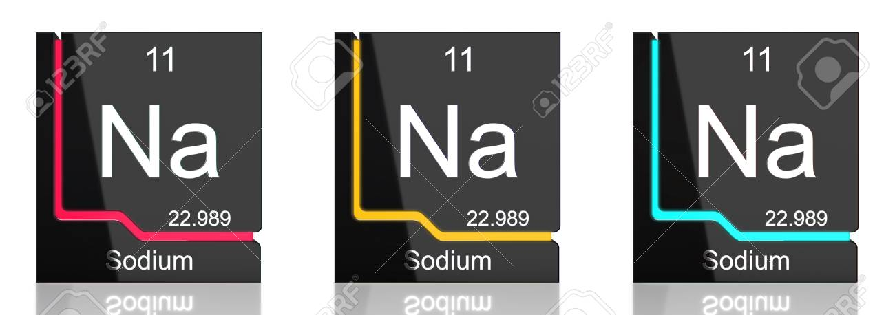Sodium element symbol from the periodic table in three colors stock sodium element symbol from the periodic table in three colors stock photo 82735656 urtaz Gallery