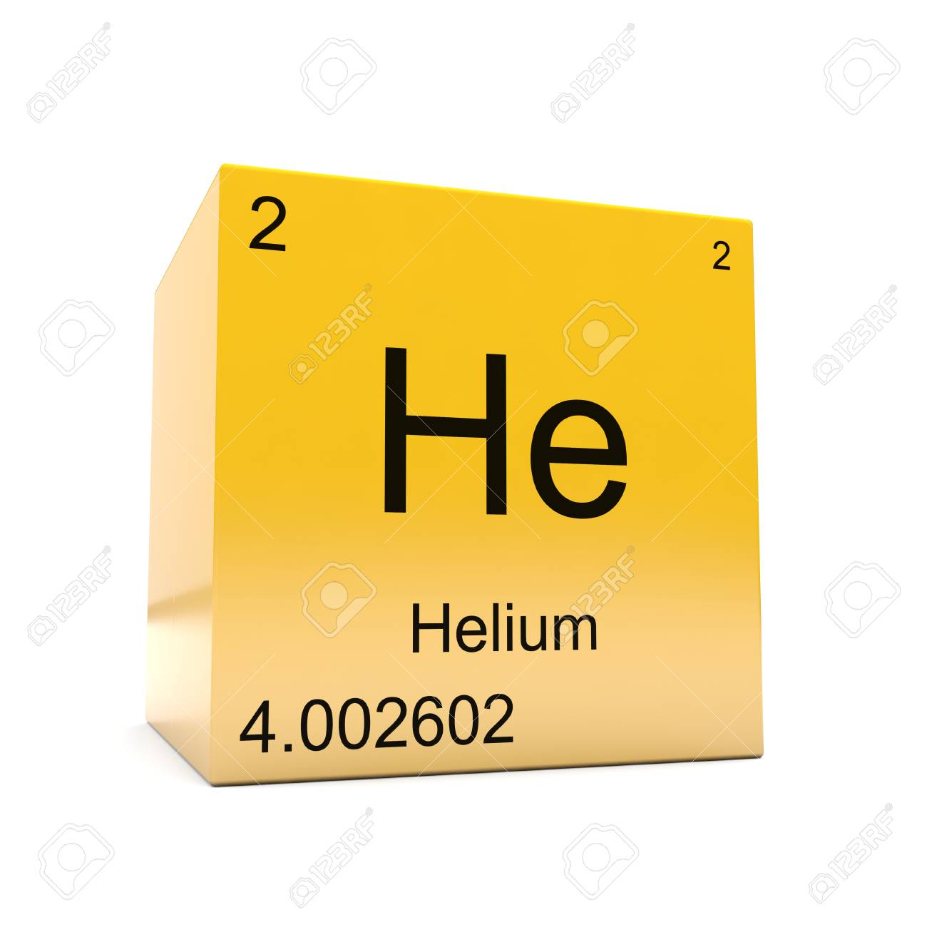 Helium Chemical Element Symbol From The Periodic Table Displayed