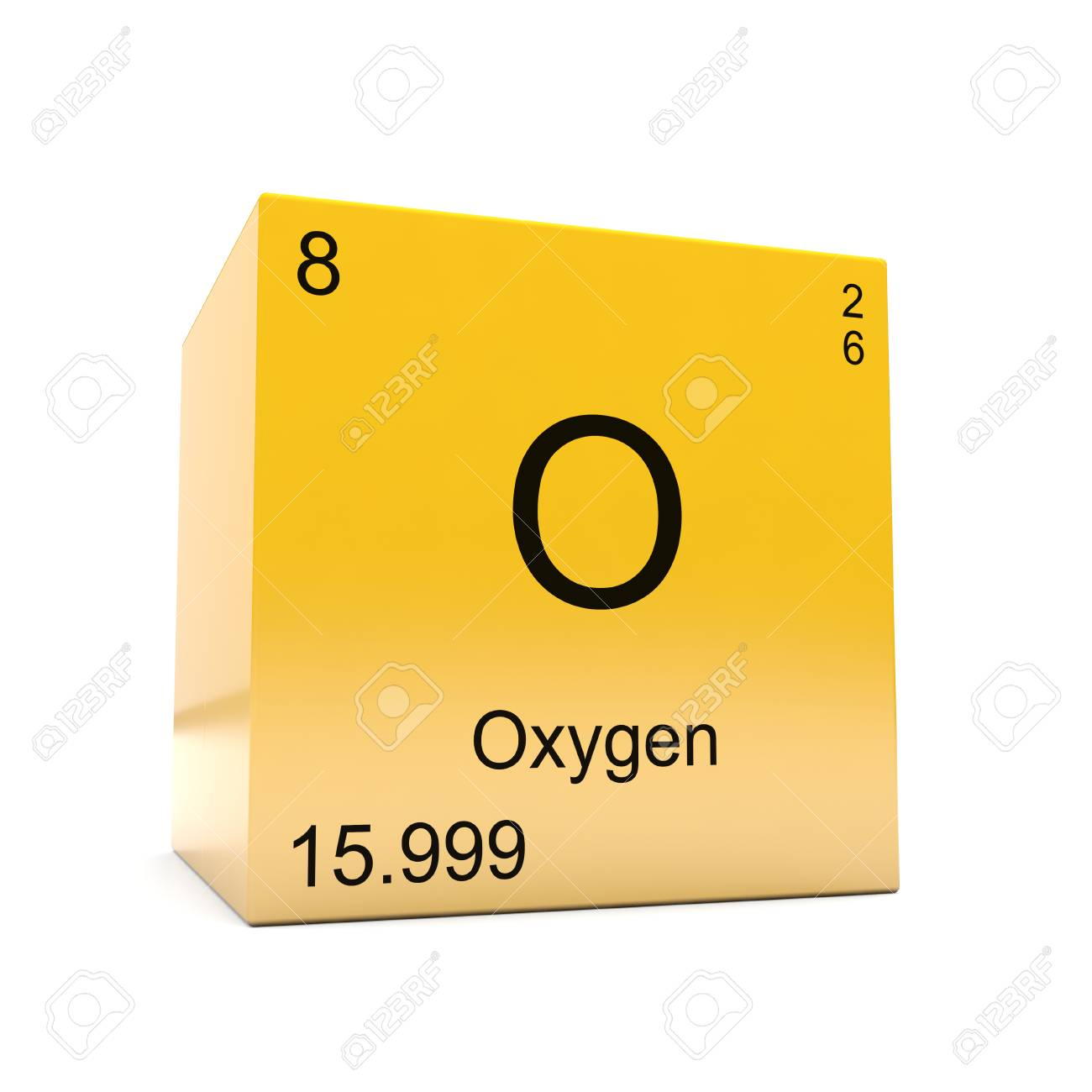Oxygen chemical element symbol from the periodic table displayed oxygen chemical element symbol from the periodic table displayed on glossy yellow cube stock photo urtaz Gallery