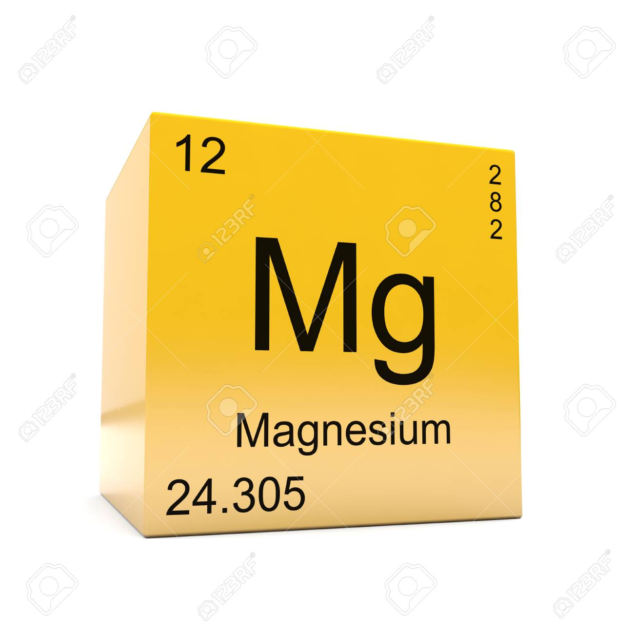 Magnesium chemical element symbol from the periodic table displayed magnesium chemical element symbol from the periodic table displayed on glossy yellow cube stock photo urtaz Image collections