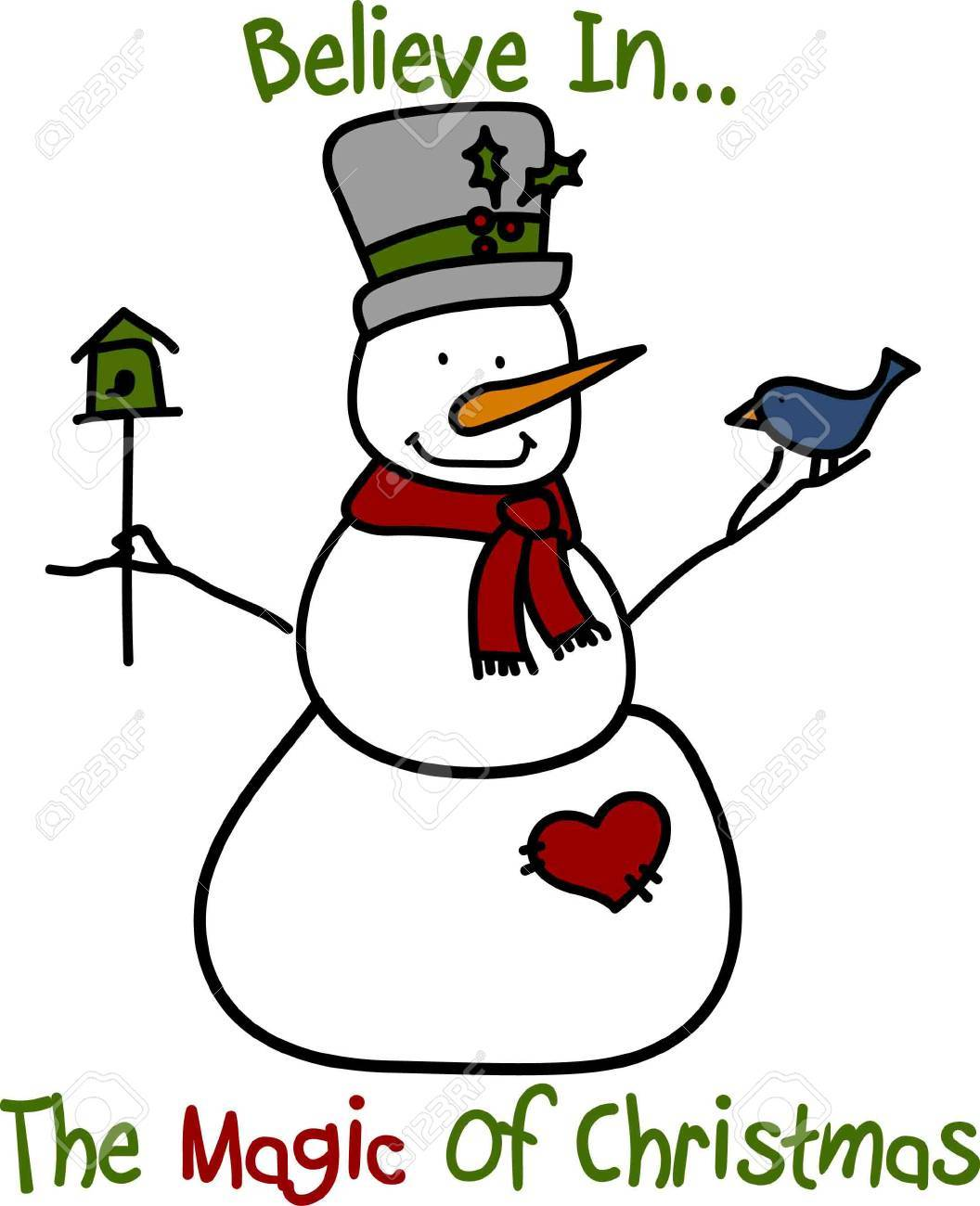 Even Our Snowman Is In The Christmas Spirit Of Giving With A ...