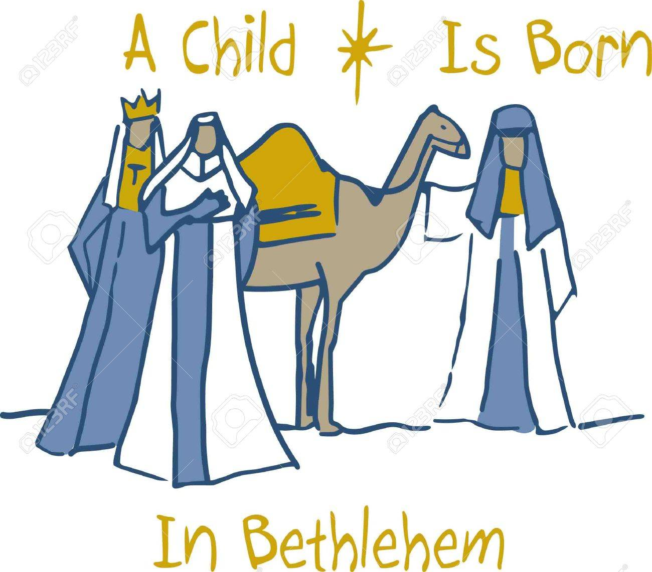 Baby jesus gifts from the three magic kings Vector Image