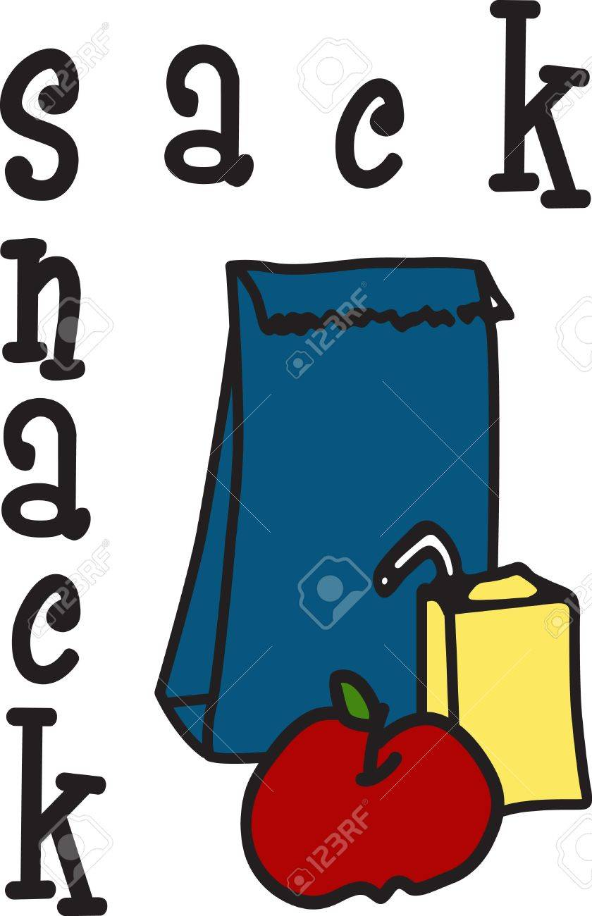 A Lunch Time Tradition A Paper Bag With Juice Box And Fruit Royalty Free Cliparts Vectors And Stock Illustration Image 40650633