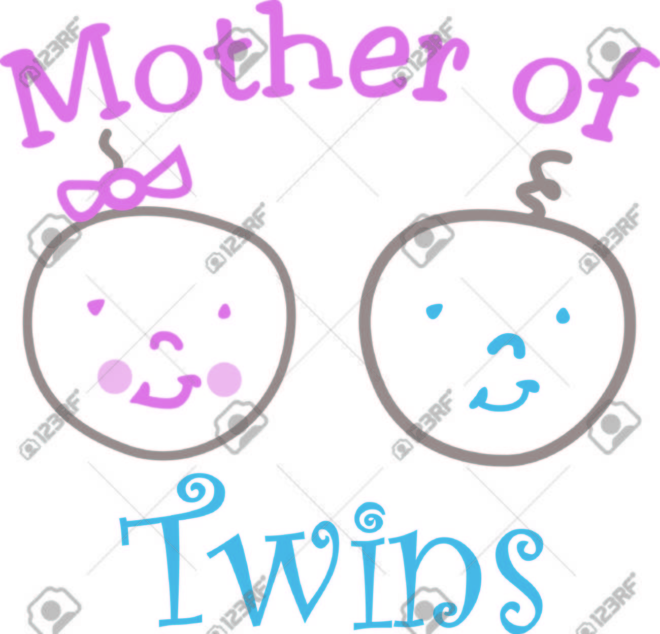Twins what could be better These happy twins are shown in a