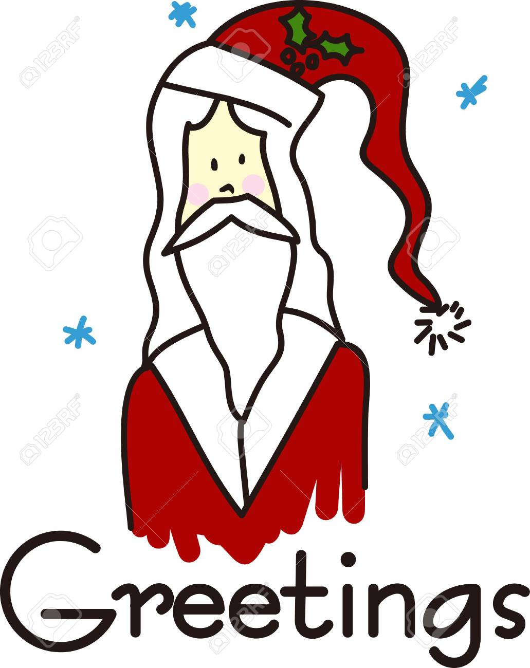 Wishing You Merry Ho Ho Ho Rather Than >> Here Is Santa Wishing You A Merry Christmas Ho Ho Ho Royalty Free