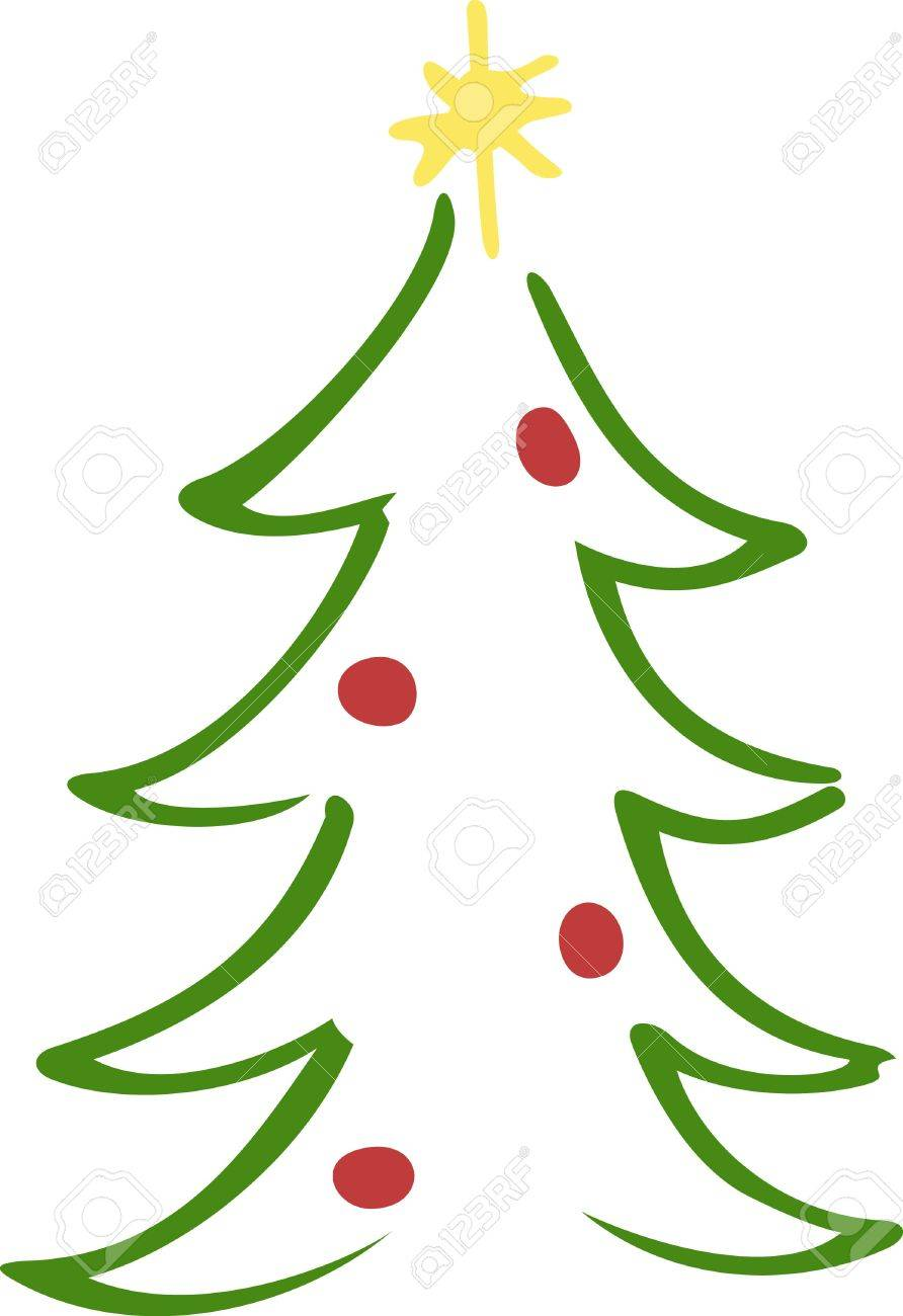 The Classic Lines Of The Christmas Tree Make Up This Simple Yet ...