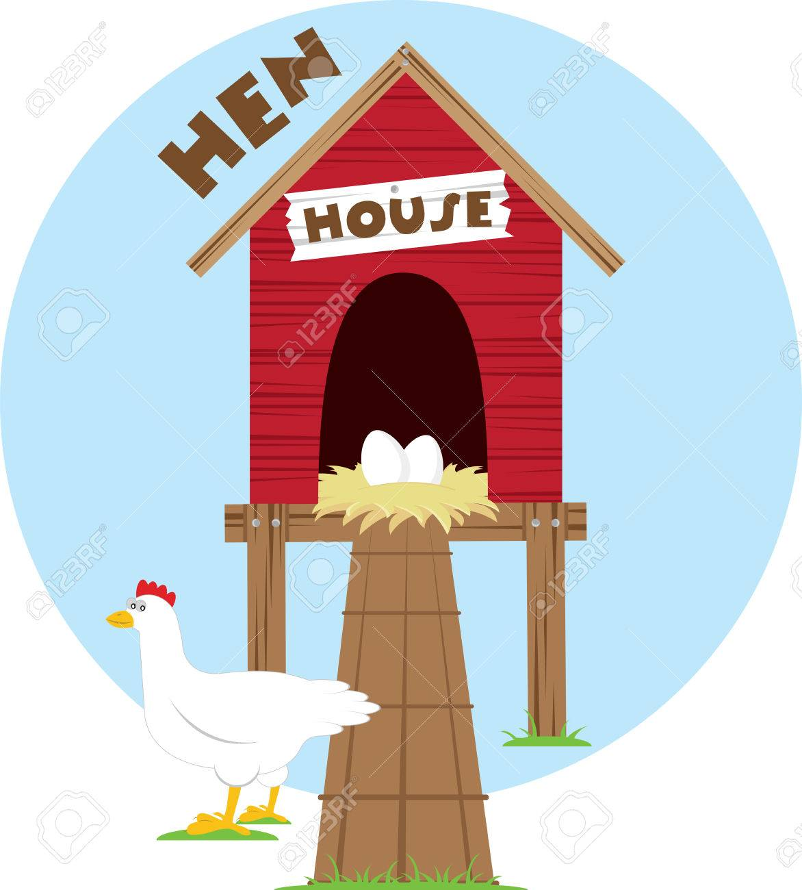 Protect Your Chicken With This Coop Stock Vector