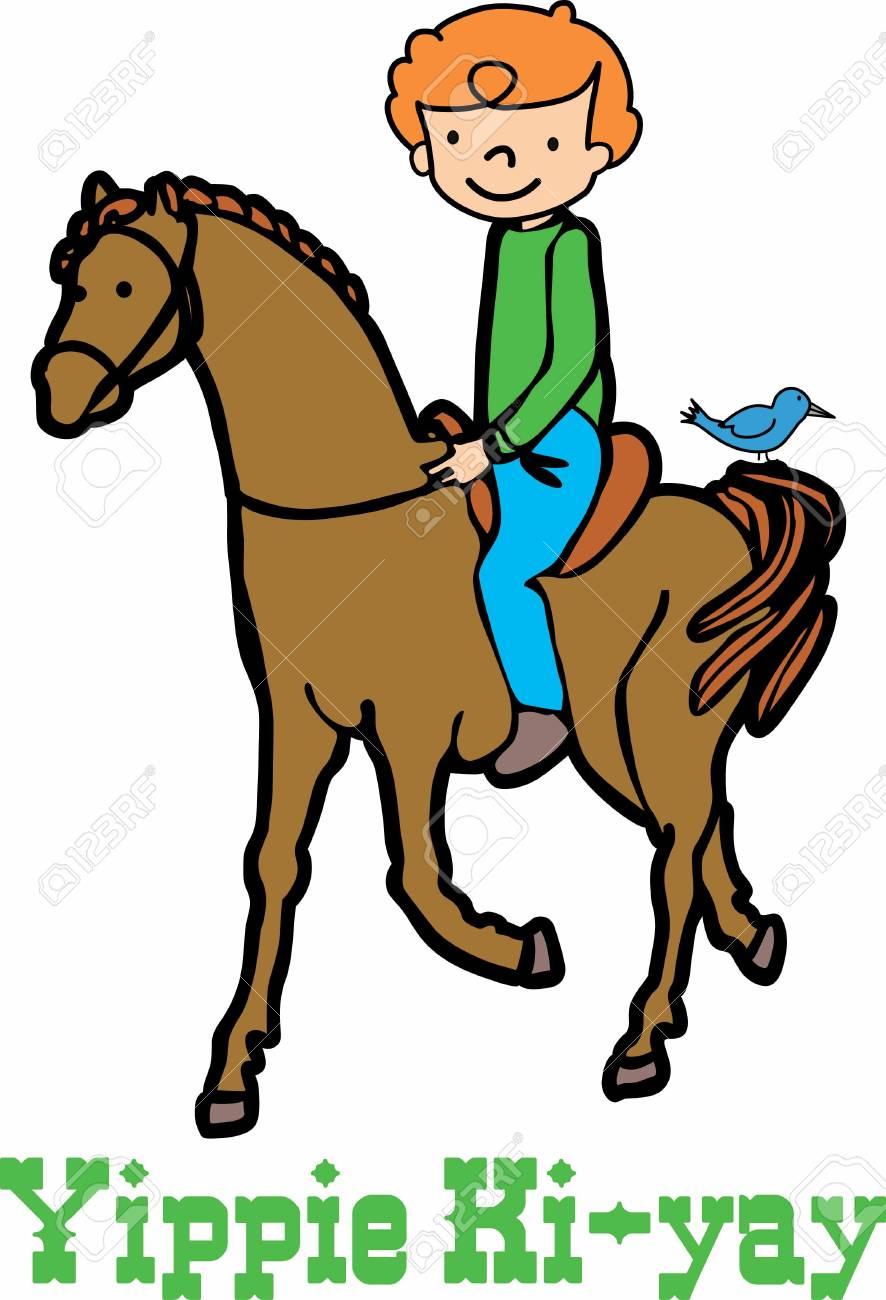 Vettoriale Equitazione è Visto Come Uno Sport Davventura Per