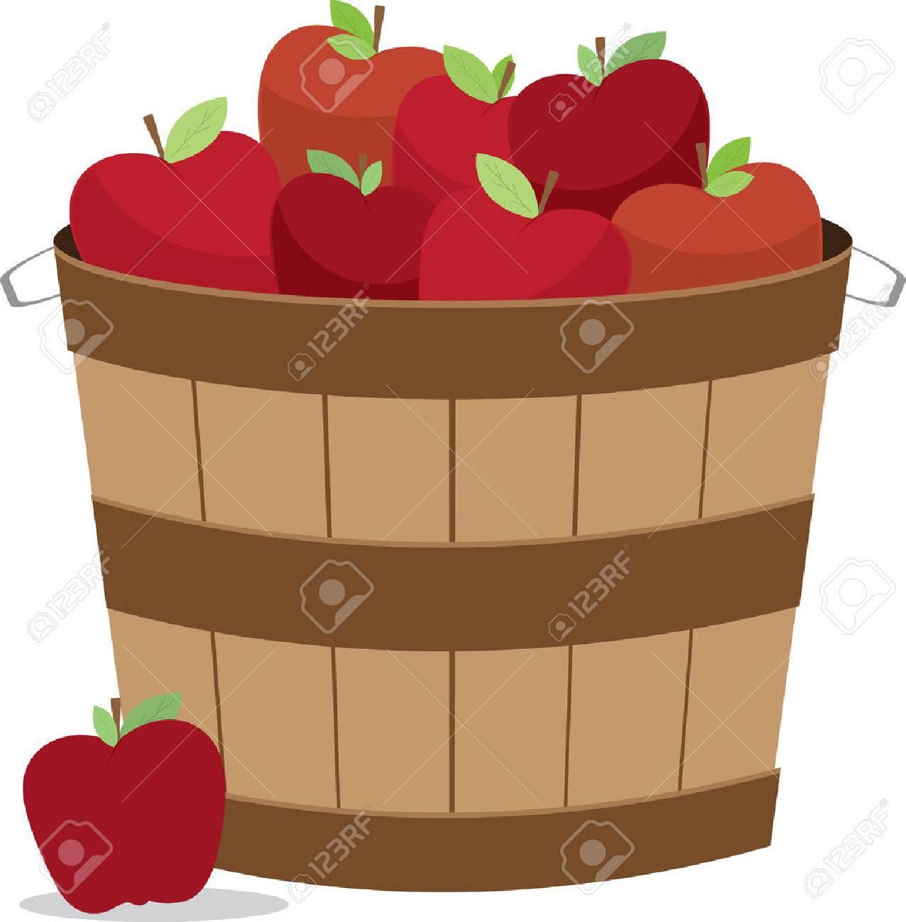Korb Äpfel In Gemischten Größen Und Farben Für Küche-Designs ...