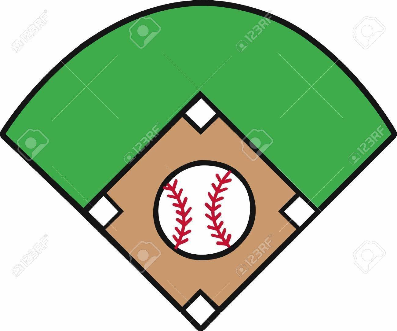 crossed bats with a yellow stars surrounding a baseball diamond rh 123rf com baseball diamond vector art