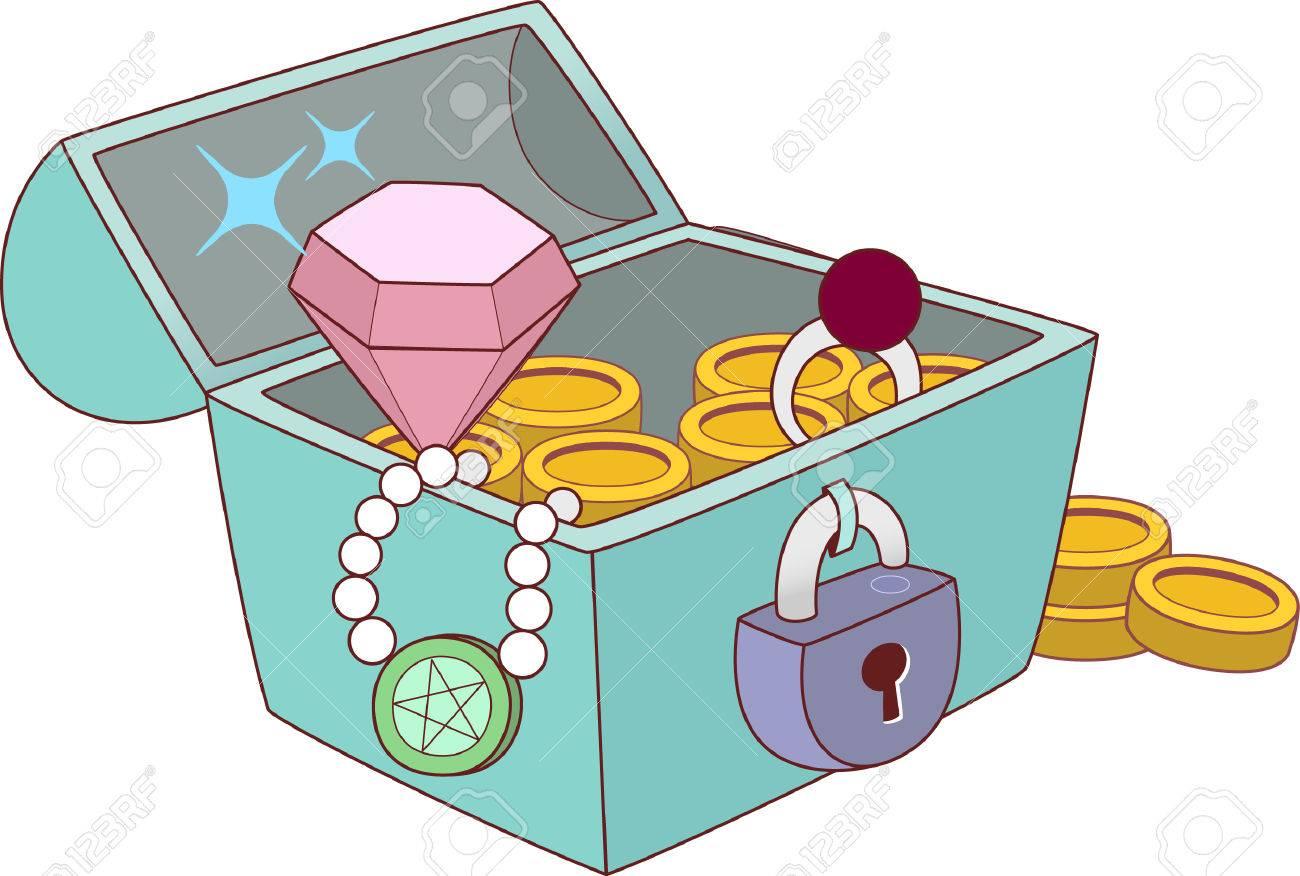 dessin d une boite a bijoux