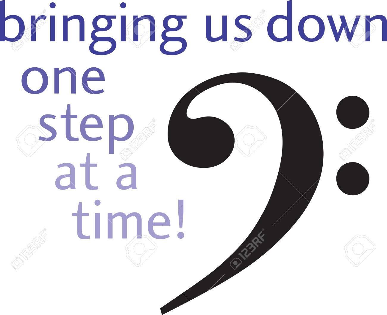 La Clave De Fa Es La Primera Gran Símbolo En El Pentagrama Inferior