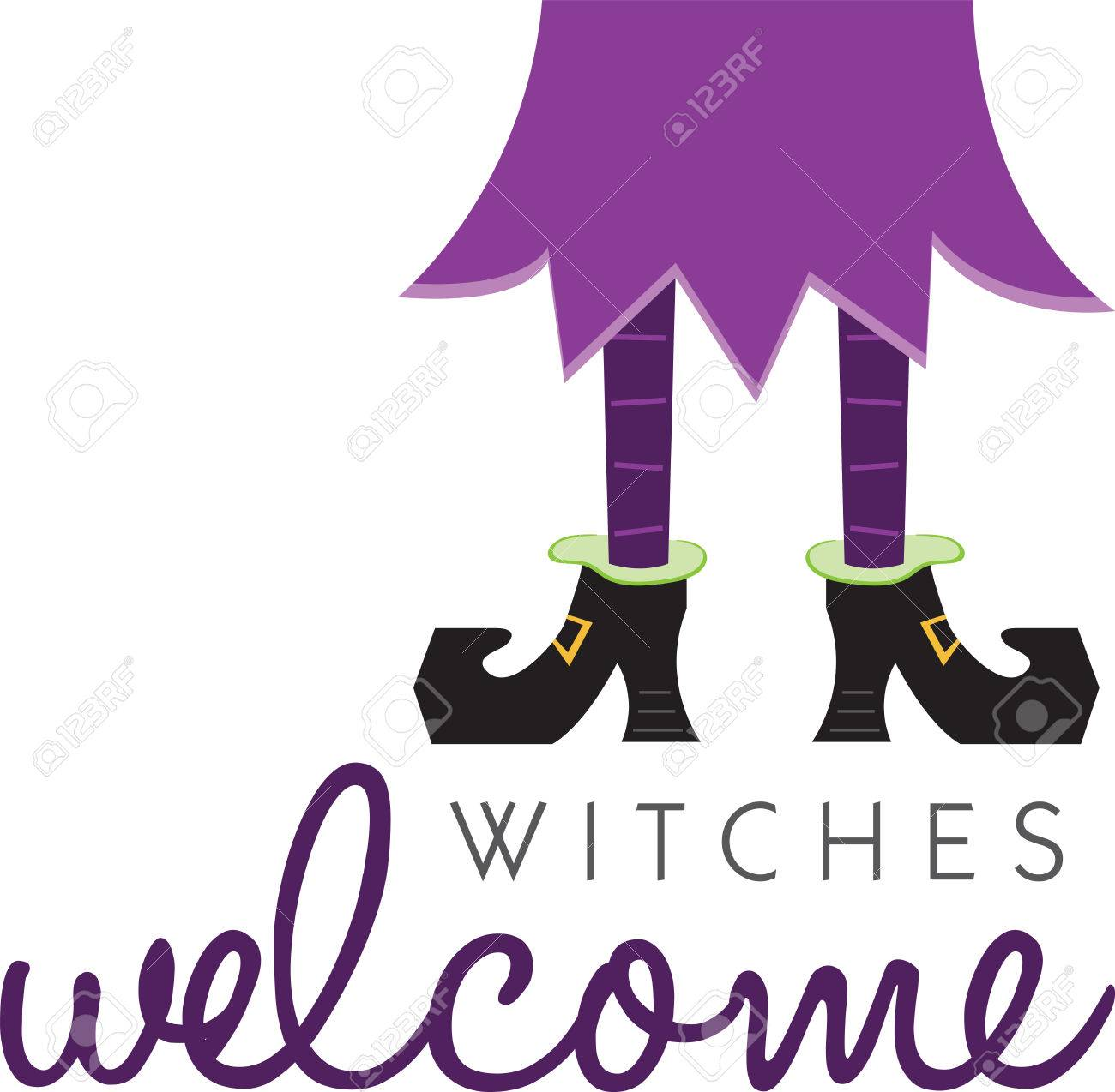 Halloween decoration clipart - Witch Legs Will Make A Great Halloween Decoration Stock Vector 41367454