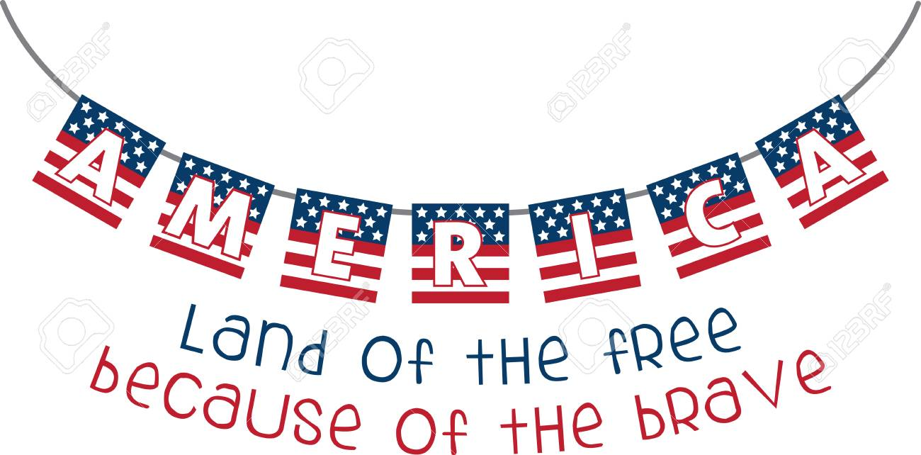 Use This American Flag Banner For A Patriotic Project Royalty Free Cliparts Vectors And Stock Illustration Image 41415738