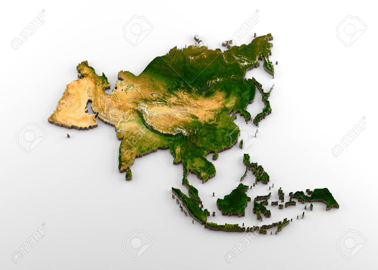 Realistic 3D Extruded Map of Asian Continent (including Indian.. on power world map, woodland world map, fiction world map, meridian world map, lucas world map, india world map, hoy world map, dorsey world map, lena world map, johnson world map, leaf world map, collins world map, sci-fi world map, thompson world map, lebanon world map,