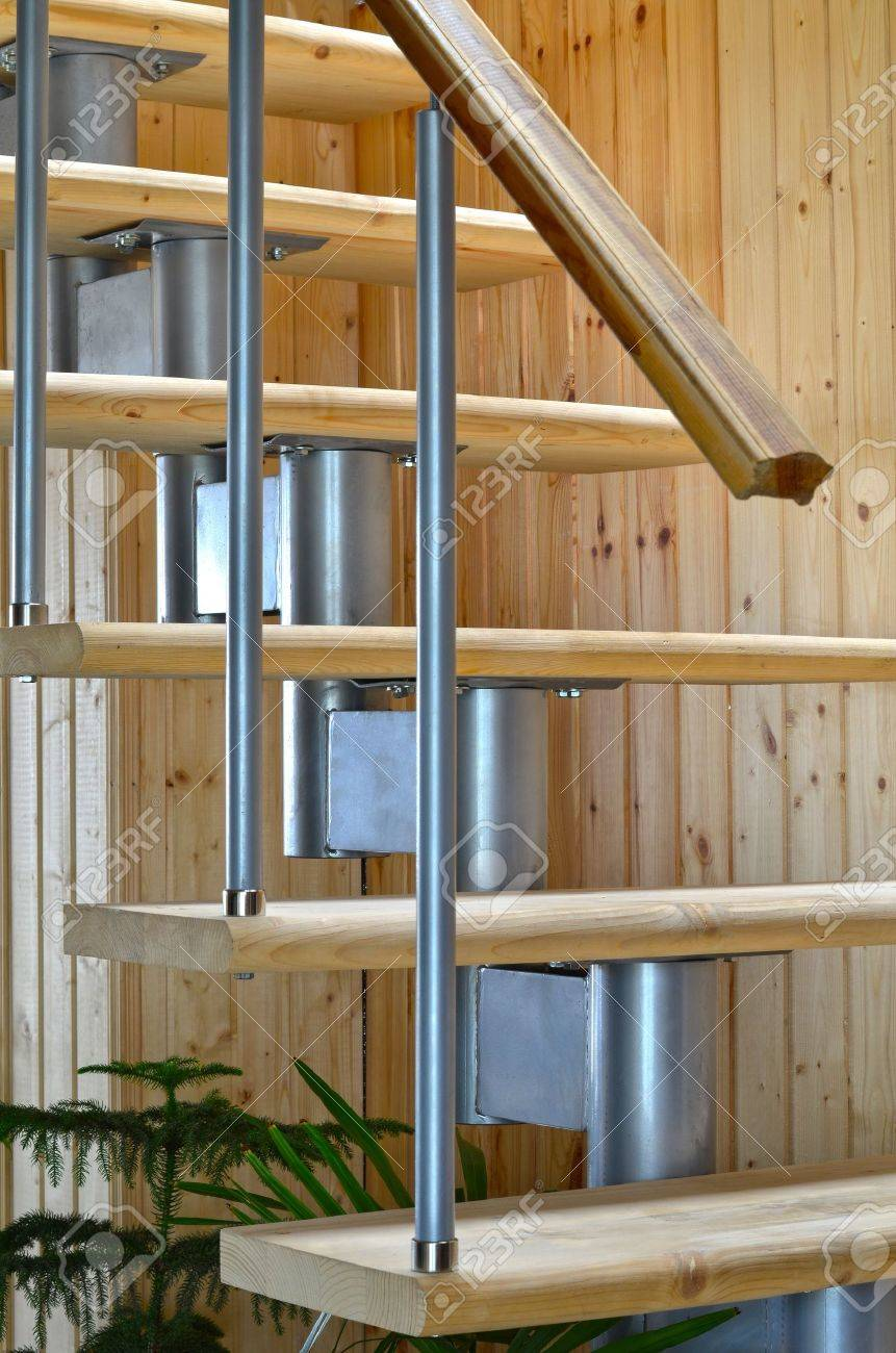 Wooden ladder in the new house Stock Photo - 10944361